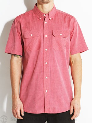 Element Humphrey Woven Shirt Red LG