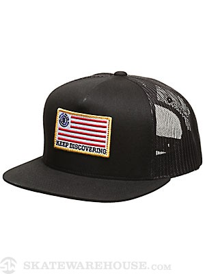 Element Keep Discovering Mesh Hat Black Adjust
