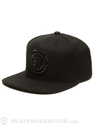 Element Knutsen Snapback Hat Black/Black Adjus