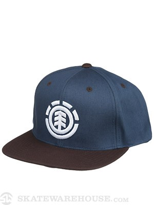 Element Knutsen Snapback Hat Dark Denim