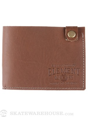 Element Kinney Leather Wallet Chocolate