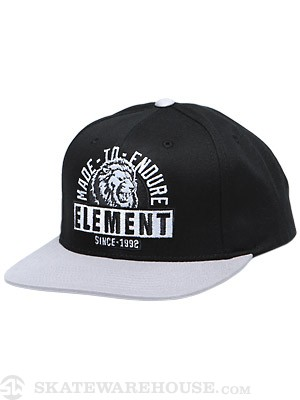 Element Lion Snap Back Hat Black Adjust