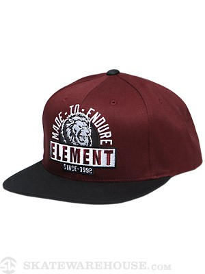 Element Lion Snap Back Hat Red Adjust