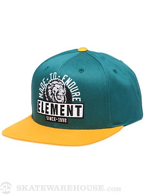 Element Lion Snap Back Hat Teal Adjust