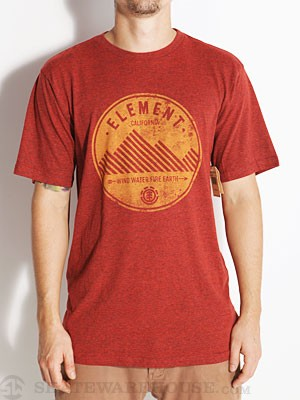 Element Lines Tri-Blend Tee Red SM