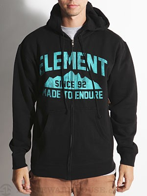 Element Mountain Hoodzip Black SM