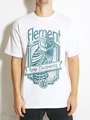 Element Owl Tee White SM