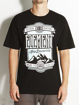 Element Peak Tee Black SM