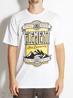Element Peak Tee White XL
