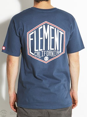 Element Press Tee Navy SM