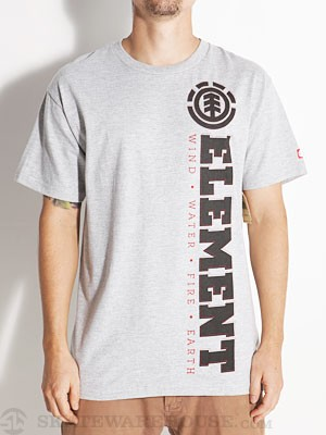 Element Point Tee Heather Grey SM
