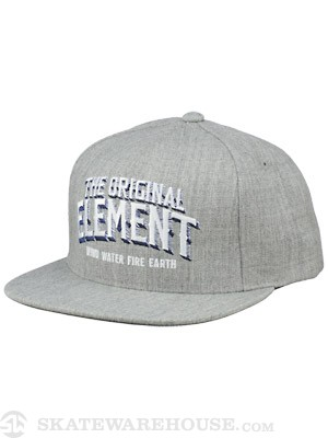 Element Progress Snap Back Hat Hthr Grey Adj.