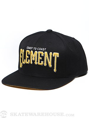 Element Parallel Snap Back Hat Black Adjust