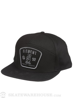 Element Protection Snapback Hat Black Adjust