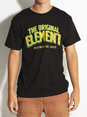 Element Progress Tee Black SM
