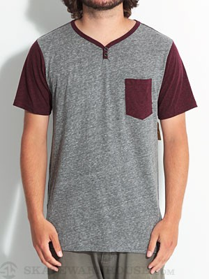 Element Renwick 2 S/S Henley Wine XL