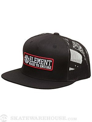 Element Regent Mesh Hat Black Adjust