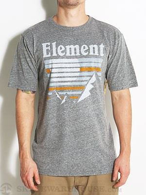 Element Setting Sun Tee Heather Grey SM