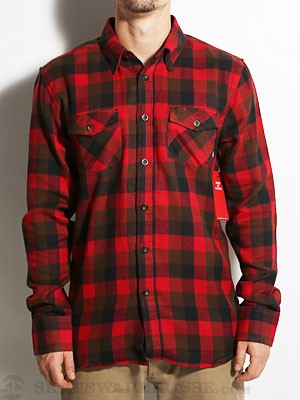 Element Spokane Flannel Shirt Red SM