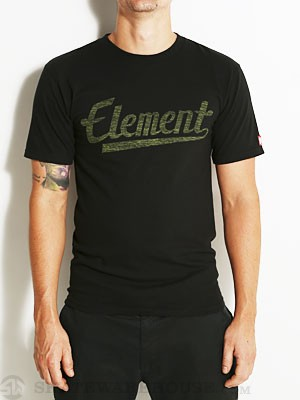 Element Script Tee Black SM