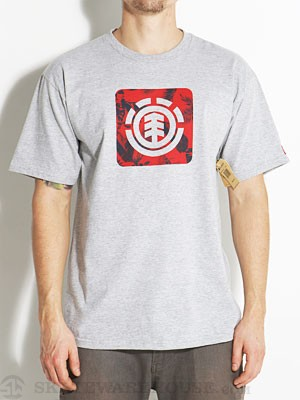 Element Tropical Tee Heather Grey MD