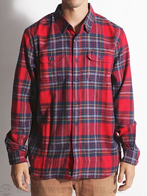 Element Twisted Flannel Shirt Red LG