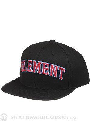 Element Whitaker Snapback Hat Black Adjust