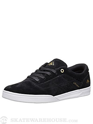 Emerica Herman G6 Shoes Black/White/Gold