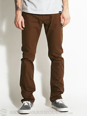 Emerica Hsu Slim 5 Pocket Twill Chocolate 36