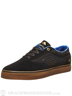 Emerica x Toy Machine Provost Shoes Black/Black/Gum