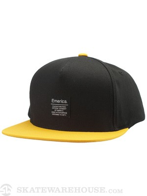 Emerica Standard Issue Snapback Hat Black/Gold
