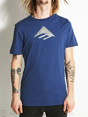 Emerica Triangle Fill 12.0 Tee Navy LG