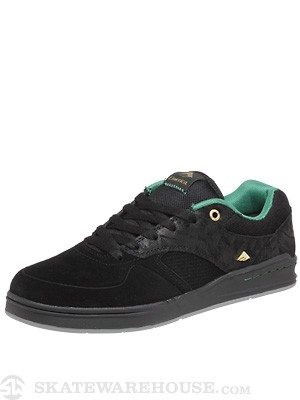 Emerica x Westgate Heritic Shoes  Black/Green/Gold