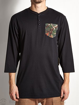 Expedition One Antler Camo 3/4 Henley Black MD