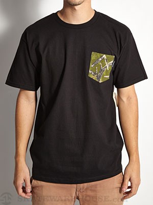 Expedition One Antler Camo Pocket Tee Black MD