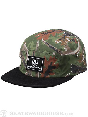 Expedition One Buckwild 5 Panel Hat Camo Adjust