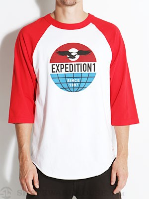 EXP-1 Global 3/4 Sleeve Shirt White/Red MD