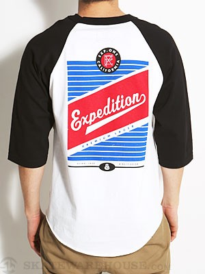 Expedition Lager 3/4 Sleeve Shirt White/Black SM