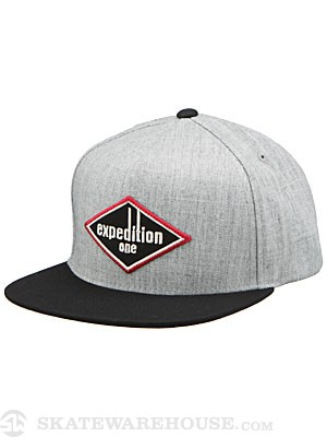 Expedition Matches Snapback Hat Ath Hthr/Blk