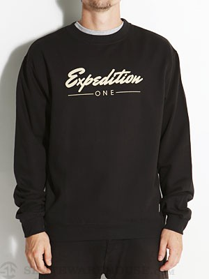 Expedition One Signature Crew Sweatshirt Black MD