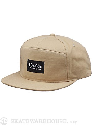Expedition One Signature Snapback Hat Khaki Adj