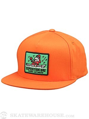 Expedition One Strike Snapback Hat Orange