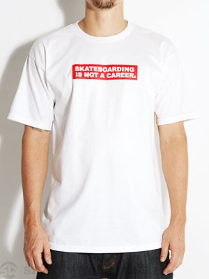 Skateboarding Is Not A Career Tee White SM