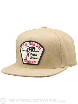 Expedition One Turn It Loose Snapback Hat Khaki