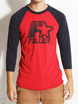 Fallen Brewer 3/4 Raglan Red/Blue LG