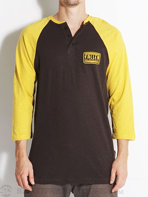 Fallen Crawford 3/4 Henley Black/Yellow SM