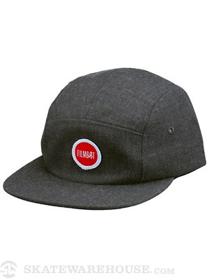 Filmbot Wooly 5 Panel Hat Dark Charcoal Adj.