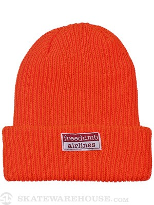 Freedumb Airlines Logo Beanie Orange