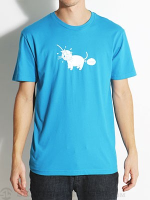 Freedumb Airlines Piss Cat Tee Turquoise MD