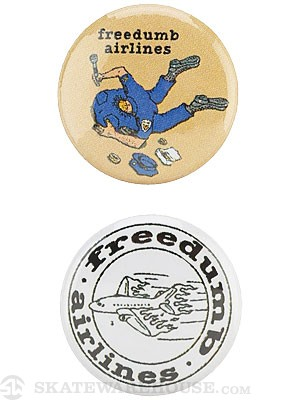 Freedumb Airlines Punk Pins 2 Pack